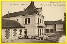 cpa MILLERY en 1918 (Rhône) MAIRIE et ECOLES Animés Enfants (Bureau du Colonel)