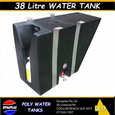 38 LITRE BLACK UTE POLY TRAY TOP WATER TANK 4X4 4WD SOAP HOLDER CAMPER 4WD NEW