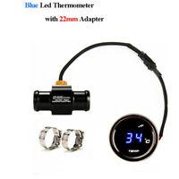 Motorcycle Thermometer Water Temperature Digital Gauge 22mm Temp Sensor Adapter