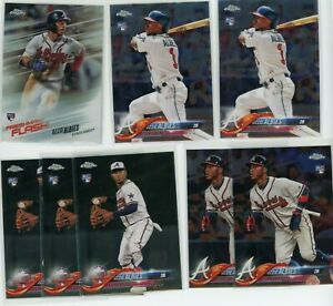 (8) 2018 Topps Chrome & Update Ozzie Albies RC Rookie Lot Braves