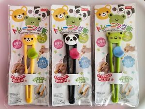 Cute Daiso Japanese Training Chopsticks for Kids- 3 Different Designs - UK STOCK