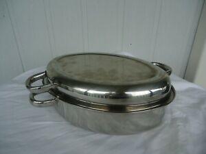 stainless steel  oven roasting baking dish roaster medium
