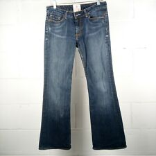 Peoples Liberation Boot Cut Jeans Women Size 31 Stretch Blue