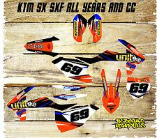 KTM SX SXF 85 125 250 450  FULL GRAPHICS KIT-FULL STICKER KIT-DECALS-MX-UNIT