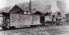 Tionesta Valley Railway (TVR) Engine 16 with caboose 110 - 8x10 Photo