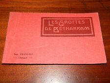 carnet 15 CPA postcard CARTE POSTALE LES GROTTES de BETHARRAM francois LIMOGES
