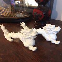 🦋art deco sculpture Porcelaine Émaillé, Animalier,paire dragon Chine 🇨🇳