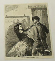 1880 magazine engraving ~ LOTTERY OFFICE IN SPAIN