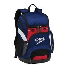 SPEEDO TEAMSTER RUCKSACK NAVY/RED/WHITE SWIMMING GYM KIT BAG LAPTOP & DIRT BAG