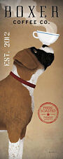 Boxer Coffee Co. Ryan Fowler Advertisements Vintage Ads Dogs Print Poster