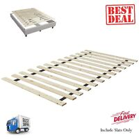 Solid Wood Bed Support Slats 39 Wide Bunkie Board Twin-XL Sleep For Mattress