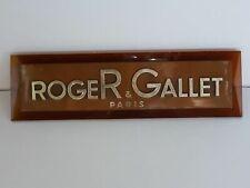 ¨Plaque de présentoir vintage parfum ROGER GALLET Paris 24,5 cm