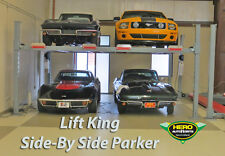 4-POST SIDE-BY-SIDE PARKER CAR HOIST 4.5T HIGH LIFT / EX WIDE by HERO HOISTS QLD