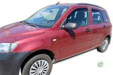 DMA23123 Mazda 2 Hatchbach 2003-2007 viento desviadores 4pc Heko Teñido