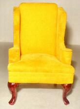 QUEEN ANNE WING CHAIR VINTAGE CONCORD MUSEUM 3809 DOLLHOUSE FURNITURE MINIATURES