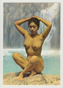 Postcard Pinup Risque Nude Stunning Girl Extremely Rare VINTAGE Post Card 9683