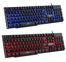 UK Mad Warrior GX50 3 Colors Backlit LED Ergonomic Usb Wired PC Gaming Keyboard