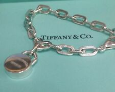 """Authentic Pre-owned  TIFFANY & CO. NACOYA  925 Silver Lock With Bracelet  7"""" L"""