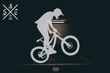DOWNHILLER SEND IT _ MOUNTAIN BIKE DOWNHILL RACER DH VINYL CAR DECAL STICKER