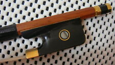 A Pernambuco Cello Bow Black OX Horn Frog/7K Gold Mount