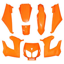 Kit CARENAGE DERBI Couleur Orange 8 coques Senda XRace Xtrem DRD