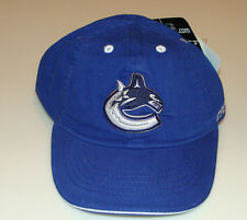 Vancouver Canucks Kids Child NHL Hockey Cap Hat 4-6x Mighty Mac OSFM Blue NWT