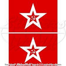 UNION SOVIETIQUE Marine Jack Drapeau USSR RUSSIE Sticker Autocollant 100mmx2