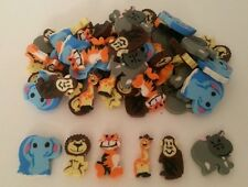 20 Mini Zoo Animal Erasers Kids Party Bags Favours Toys Vending Novelty