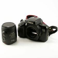 CANON EOS 700 FILM CAMERA W/ 35MM-80MM LENS, ORIGINAL LEATHER CASE AND STRAP