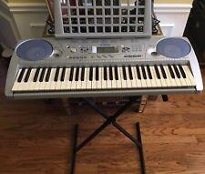 Yamaha Keyboard Portable Piano PSR-275 Touch Sensitive 61 keys w/ AC Cord, Stand