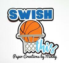 Craftecafe Mindy Sports Basketball premade paper piece scrapbook title diecut