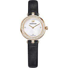 Orologio SWAROVSKI AILA DRESSY MINI pelle nera 5376642 donna watch oro rosa
