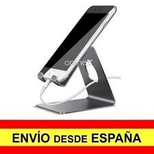 Soporte Mesa Aluminio para Móvil Tablet Sobremesa Base Universal GRIS a2976