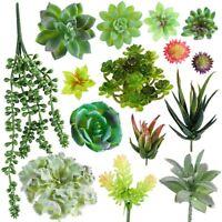 15 Pcs Assorted Artificial Succulent Plants Fake Succulents Plant DIY Home Decor