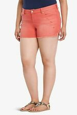 NWT Torrid Plus Size 22 Skinny Short Shorts Red Wash With Destruction (VV13)