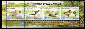 Philippines Birds 2007 Wild Duck, Mallard S/S overprinted BANGKOK Thailand Exh