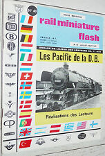 RMF RAIL MINIATURE FLASH N°40 1965 TRAINS LOCOMOTIVES / LES PACIFIC DE LA D.B.
