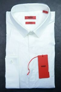 Hugo Boss Men Evening Slim Fit French Cuff WTE Stretch Dress Shirt 44 17.5 32/33