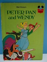VINTAGE 1981 WALT DISNEY'S PETER PAN AND WENDY COLOR ILLUSTRATED HARD COVER BOOK