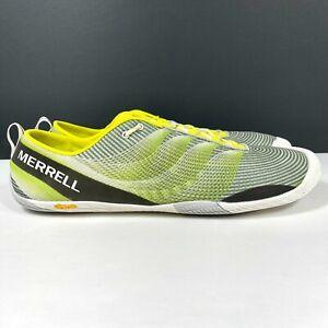 Merrell Vapor Glove 2 Men's Size 15 Running Shoes Yellow Green J37743