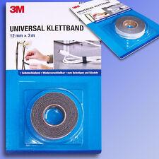 3M Universal Klettband 12mmx3m Klettverschluss selbstschließend wiederverschlb.