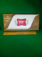 Vintage 1970's Miller High Life Beer  Sign Champagne Of Beers
