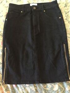 Universal Store Brand - Abrand Black Stretch Denim Pencil Skirt Size 8/26