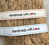 Sew in Label - Handmade with Love Ribbon - Craft Gift Wrap - Labels - Shop Label