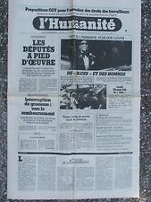 L'Humanité - (8 sept 1981) Fête de l'Humanité - Interruption grossesse - Irlande