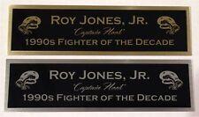 ROY JONES JR NAMEPLATE FOR SIGNED TRUNKS GLOVE PHOTO DISPLAY CASE