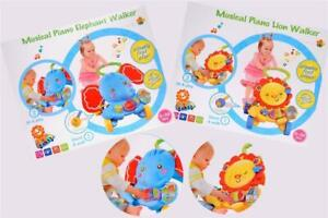 Child Baby Walker with Piano Educational Sounds and Lights Fun Push Along Walker