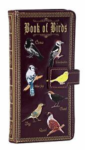 Shagwear Book of Birds Large Zipper Bi-Fold Wallet