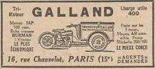 Y5842 Tri-moteur GALLAND 500 cmc. - Pubblicità d'epoca - 1930 Old advertising