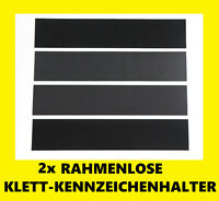 2x Kennzeichenhalter Klett Rahmenlos Nummernschildhalter Kennzeichenhalterung